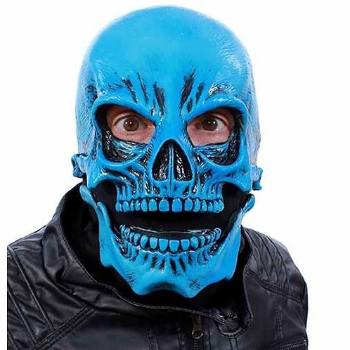 UV Blue Skull Mask