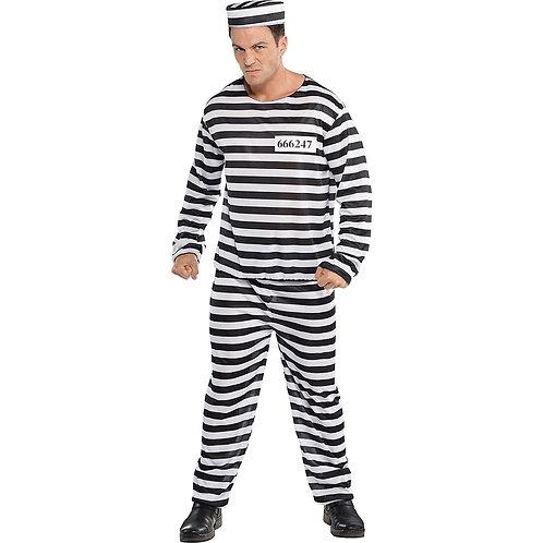 Jailbird Con Men's Costume
