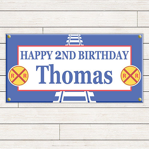 Personalized 2'x4' Thomas the Train Banner