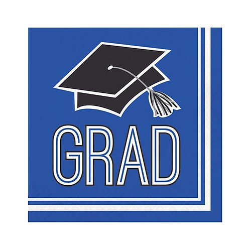 Blue Grad Lunch Napkins 36ct.