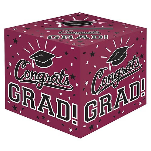 Burgundy/Maroon Grad Card Box