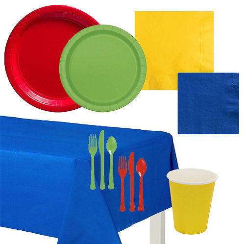 Primary Colors Solid Value Tableware Kit