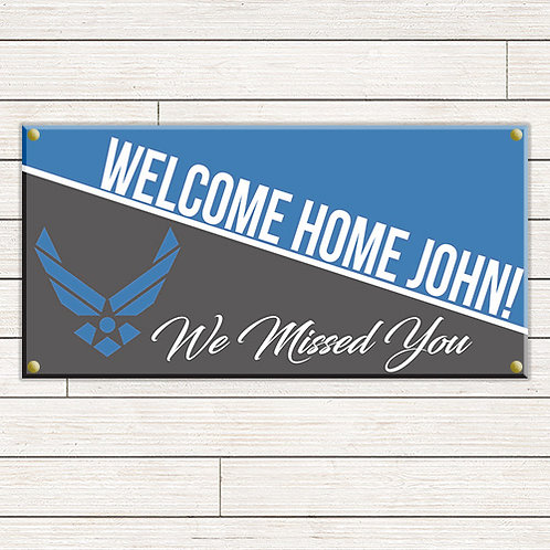 Air Force Welcome Home 2'x4' Banner