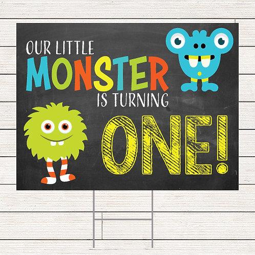 Little Monster Yard Sign