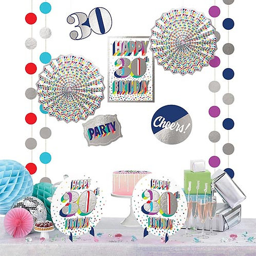 30th Multi Milestone Decorating Kit