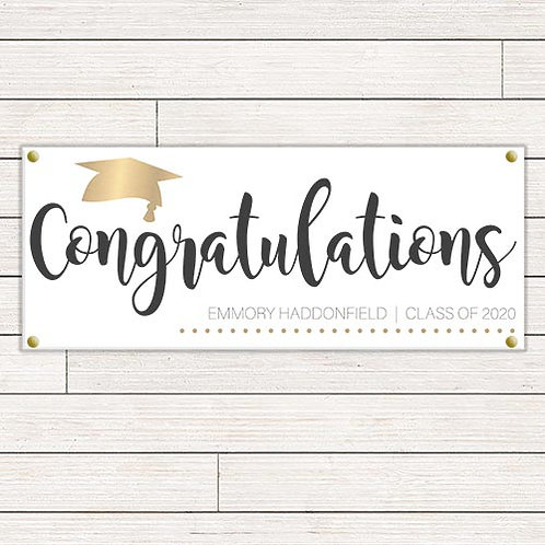 Simple Chic Graduation Banner
