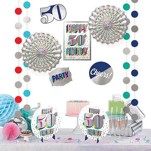 50th Multi Milestone Decorating Kit