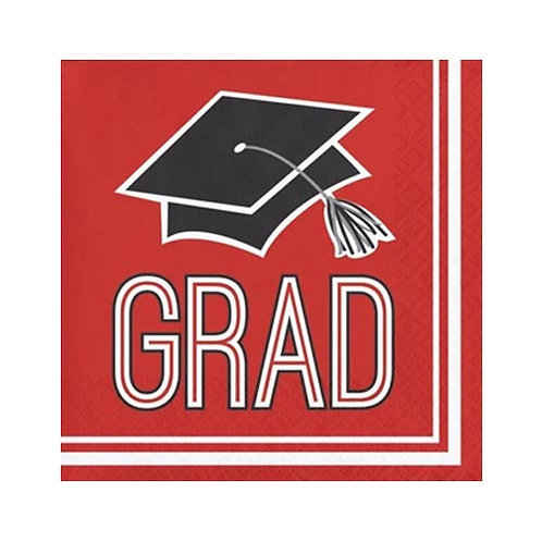 Red Grad Lunch Napkins 36ct.