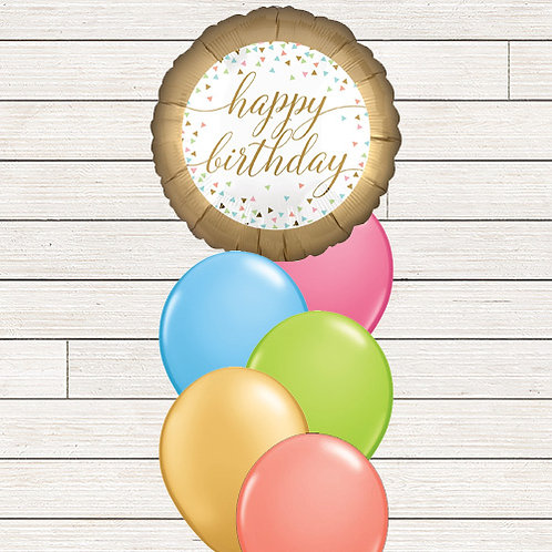Pastel Celebration Balloon Bouquet