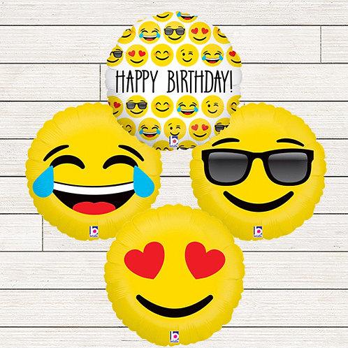 Emoji Mylar Balloon Bouquet