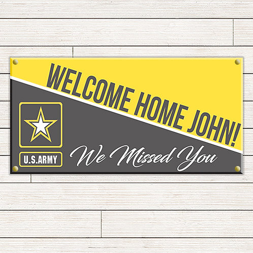 Army Welcome Home 2'x4' Banner