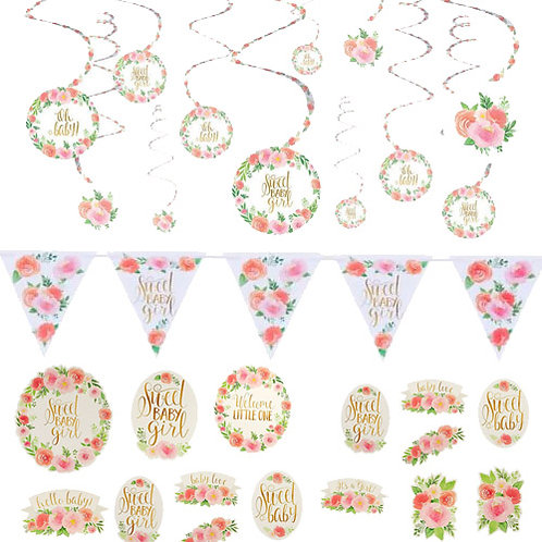 Sweet Baby Girl Decoration Kit