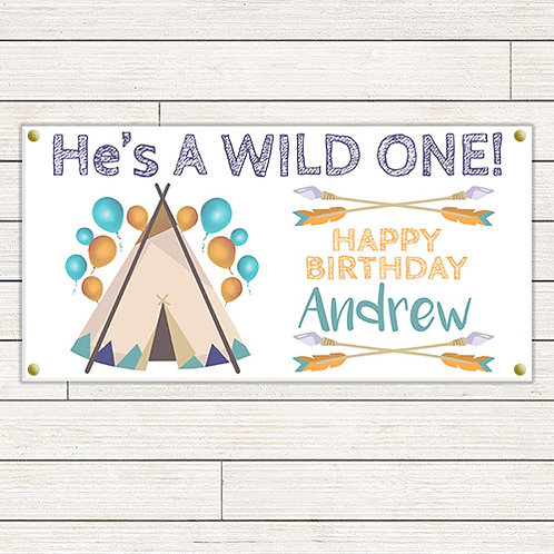 He's A Wild One 2'x4' Banner