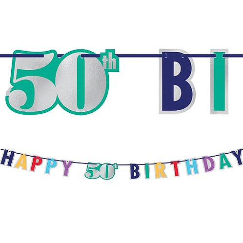 50th Multi Milestone Letter Banner