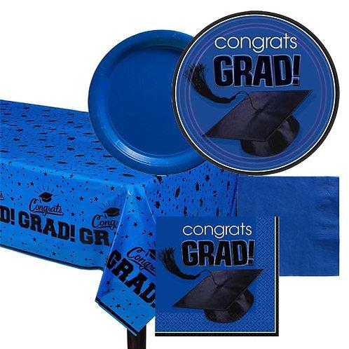 Blue Grad Tableware Kit