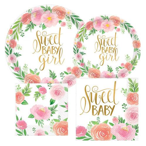 Sweet Baby Girl Tableware Kit