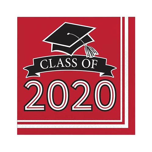 2020 Red Grad Lunch Napkins 36ct.