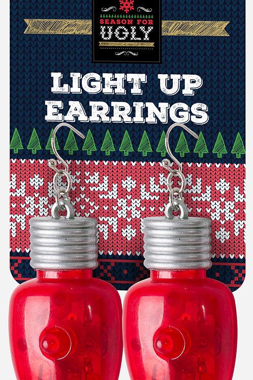 Giant Bulb Light Up Earrings