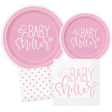 Pink Hearts Baby Shower