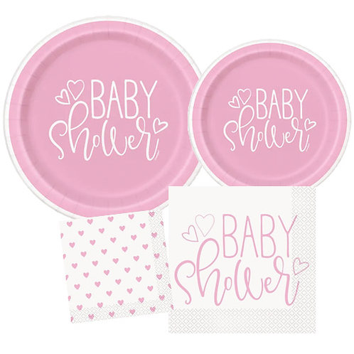 Pink Hearts Baby Tableware Kit