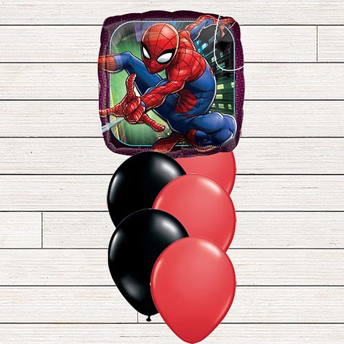 Spiderman Balloon Bouquet