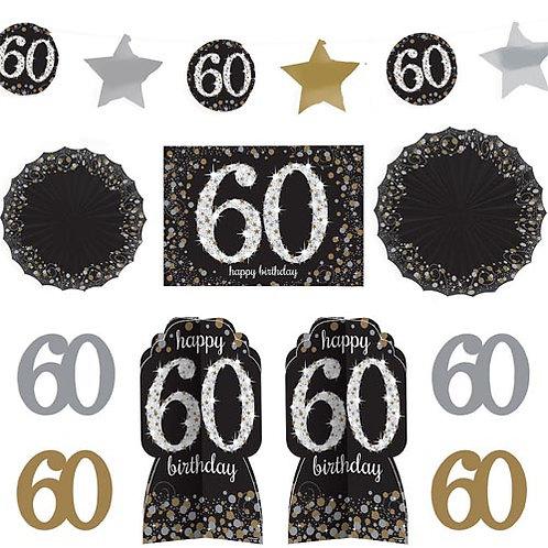 60th Sparkling Milestone Decorating Kit