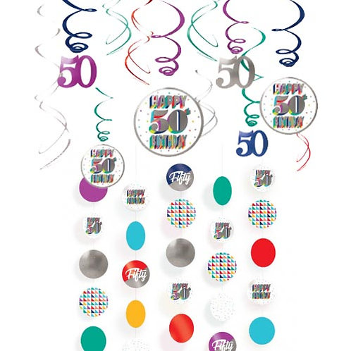 50th Multi Milestone Hanging Decor Kit