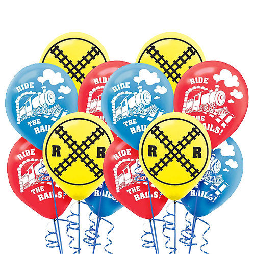 Thomas the Train Packaged Latex Balloons 12ct. FLAT