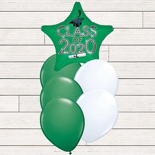 Green 2020 Grad Balloon Bouquet