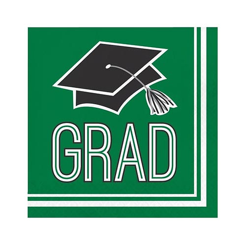 Green Grad Lunch Napkins 36ct.