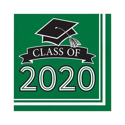 2020 Green Grad Lunch Napkins 36ct.
