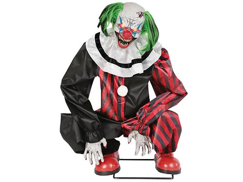 Crouching Clown Animated Prop