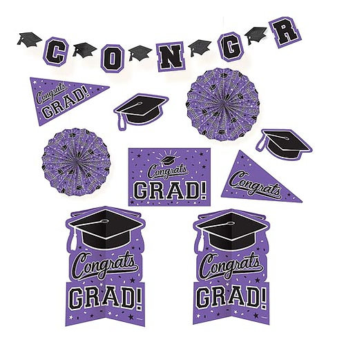 Purple Grad Room Decorating Kit