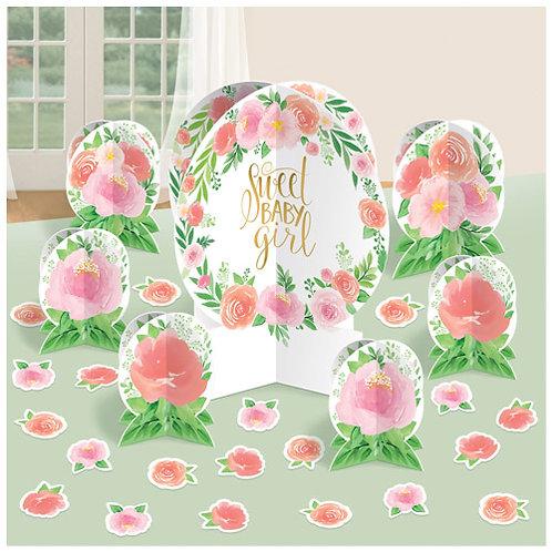 Sweet Baby Girl Table Decor Kit