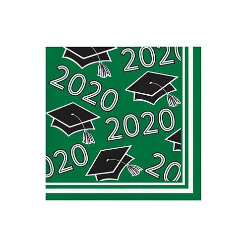 2020 Green Grad Beverage Napkins 36ct.