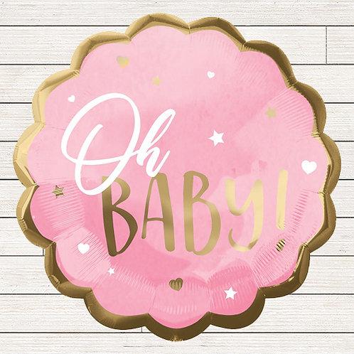 "22"" Oh Baby Girl Balloon"