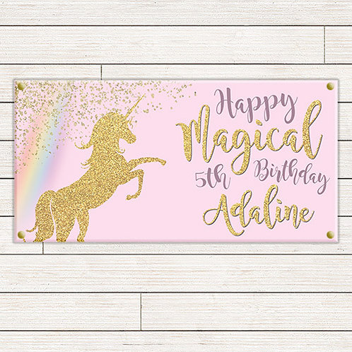 Personalized 2'x4' Unicorn Banner