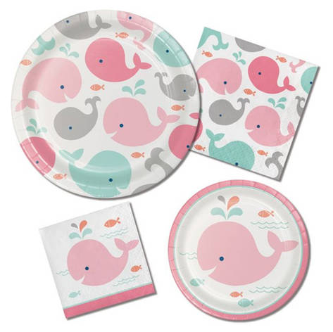Pink Whale Baby Shower
