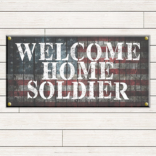 Soldier Welcome Home 2'x4' Banner