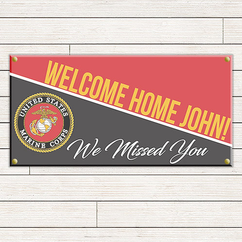 Marines Welcome Home 2'x4' Banner