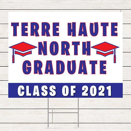 Basic Terre Haute North Grad Yard Sign