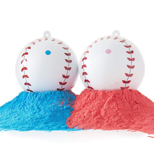 Gender Reveal Baseballs 2PK