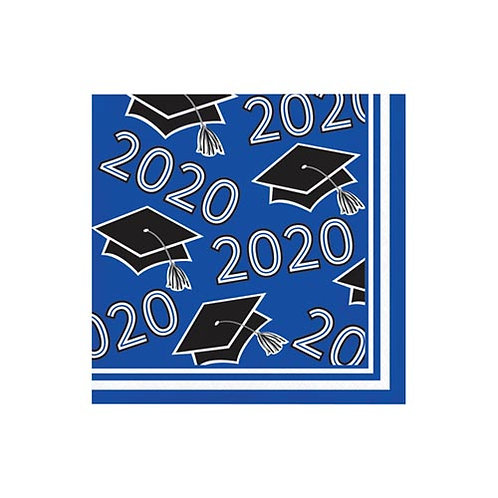 2020 Blue Grad Beverage Napkins 36ct.