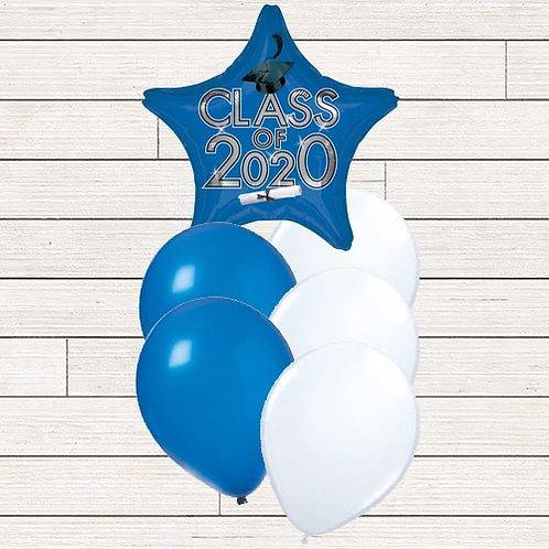 Blue 2020 Grad Balloon Bouquet