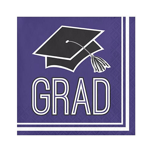Purple Grad Lunch Napkins 36ct.