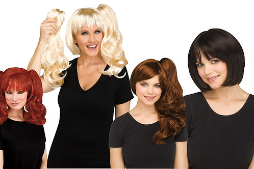3-In-1 Wig - Assorted Colors