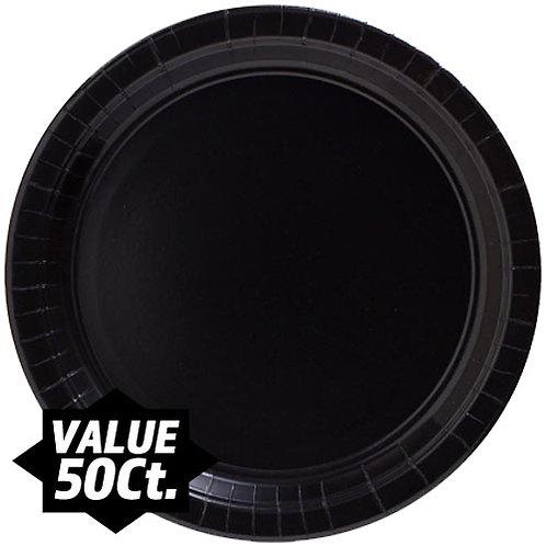 "Black 9"" Paper Plates 50ct."
