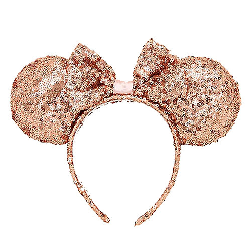 Minnie Mouse Sequin Rose Gold Headband