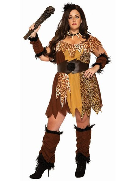 Cavewoman Women's Plus Costume