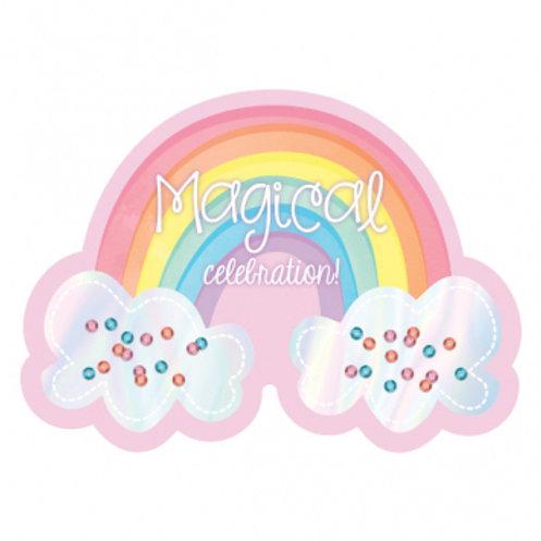 Magical Rainbow Premium Invitations
